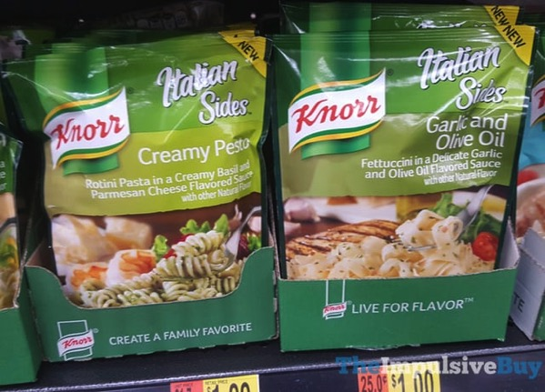 Knorr Italian Sides Creamy Pesto and Garlic and Olive Oil