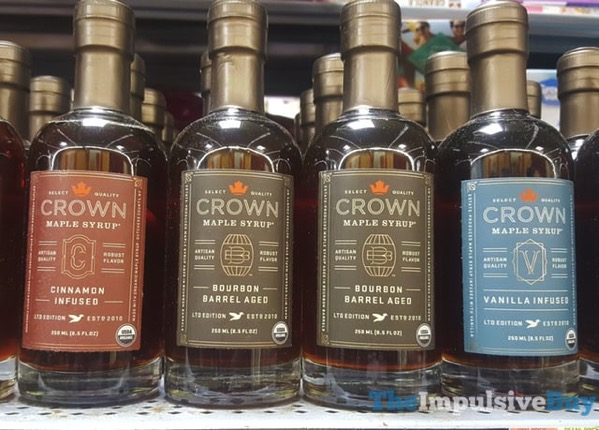 Limited Edition Crown Maple Syrup  Cinnamon Infused Bourbon Barrel Aged and Vanilla Infused