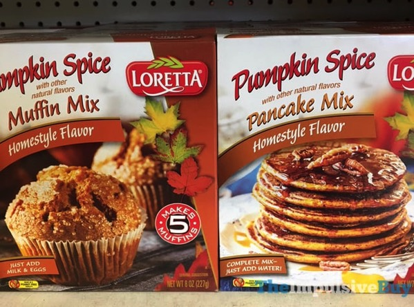 Loretta Pumpkin Spice Muffin Mix and Pancake Mix  2017