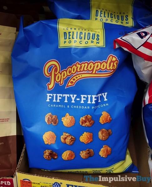 Popcornopolis Fifty Fifty Caramel  Cheddar Popcorn