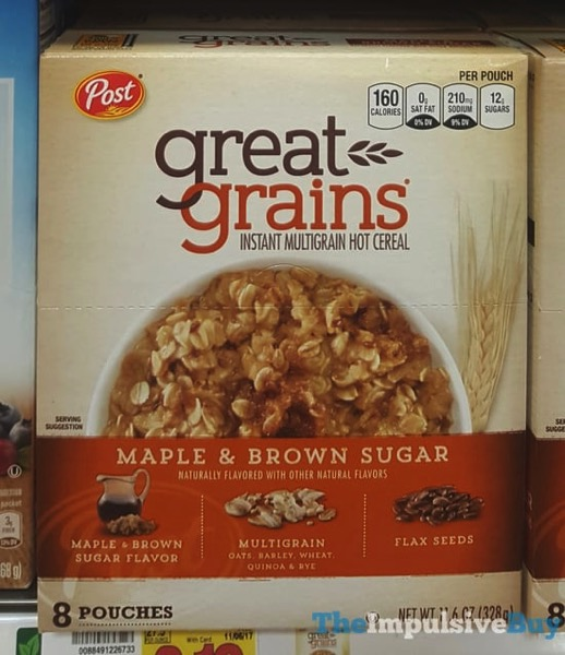 Post Great Grains Maple  Brown Sugar Instant Multigrain Hot Cereal