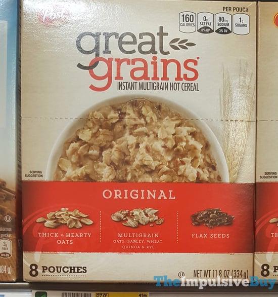 Post Great Grains Original Instant Multigrain Hot Cereal