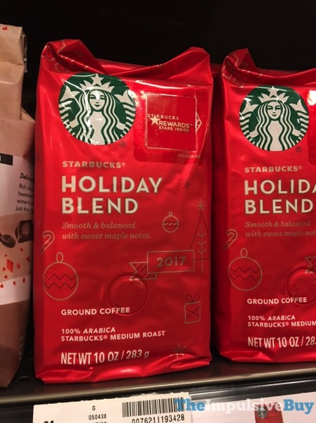 Starbucks Holiday Blend 2017 Ground Coffee