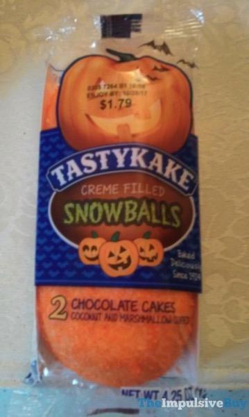 Tastykake Halloween Creme Filled Snowballs
