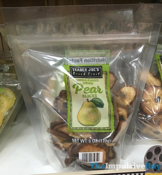 Trader Joe s Dried Fruit Unsulfured Dried Pear Slices