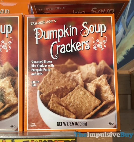 Trader Joe s Pumpkin Soup Crackers  2017