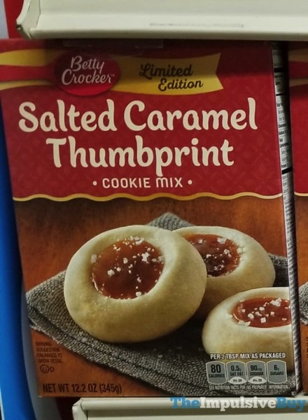 Betty Crocker Limited Edition Salted Caramel Thumbprint Cookie Mix
