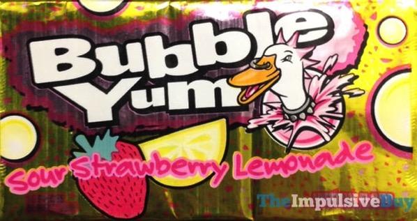Bubble Yum Sour Strawberry Lemonade Gum