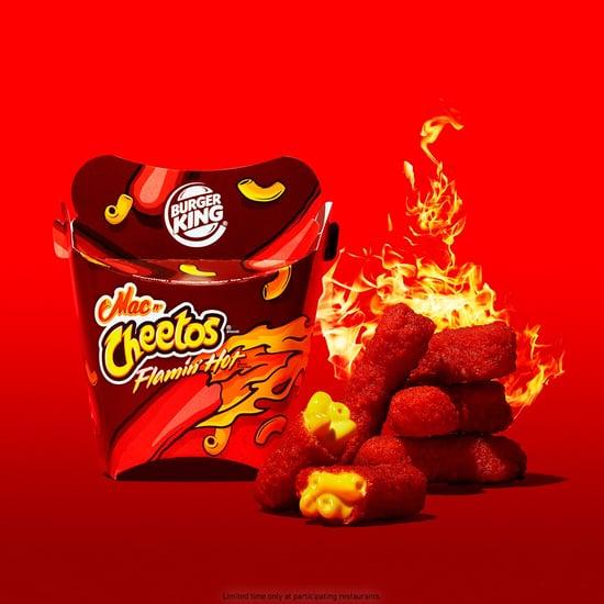 Burger King Mac n Cheetos Flamin Hot