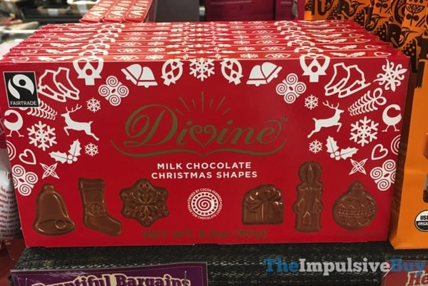 Divine Milk Chocolate Christmas Shapes