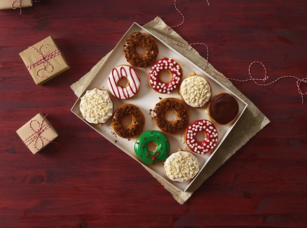 Dunkin Donuts Frosted Sugar Cookie Donut and Gingerbread Cookie Donut