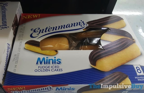 Entenmann s Minis Fudge Iced Golden Cakes