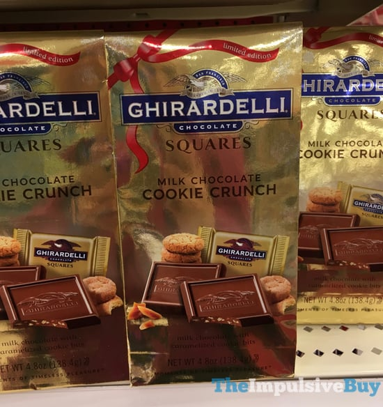 Ghirardelli Limited Edition Milk Chocolate Cookie Crunch Squares