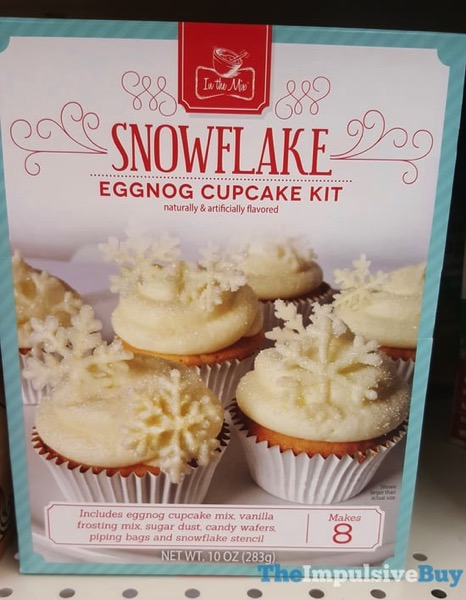 In The Mix Snowflake Eggnog Cupcake Kit