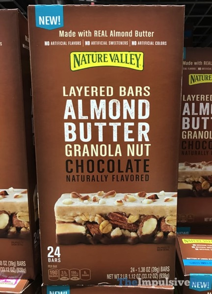 Nature Valley Almond Butter Granola Nut Chocolate Layered Bars