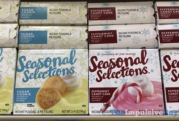 Seasonal Selections Sugar Cookie and Peppermint Candy Cane Instant Pudding  Pie Filling