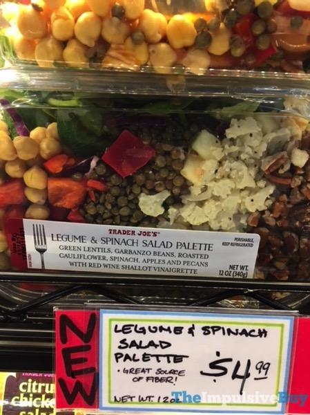 Trader Joe s Legume  Spinach Salad Palette
