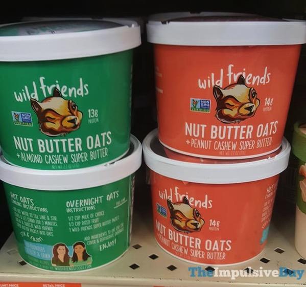 Wild Friends Nut Butter Oats  Almond Cashew and Peanut Cashew