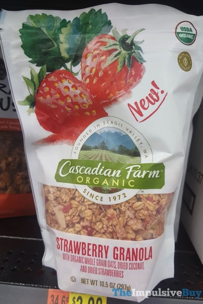 Cascadian Farm Organic Strawberry Granola