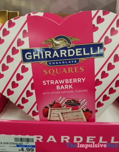 Ghirardelli Limited Edition Strawberry Bark Squares Heart Set