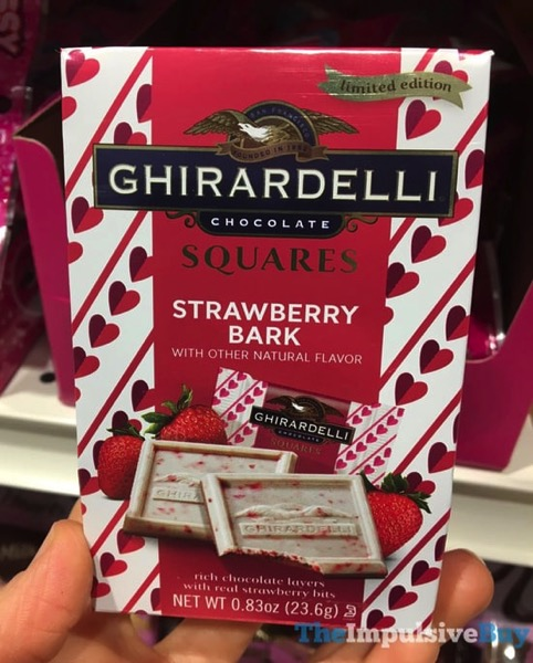 Ghirardelli Limited Edition Strawberry Bark Squares