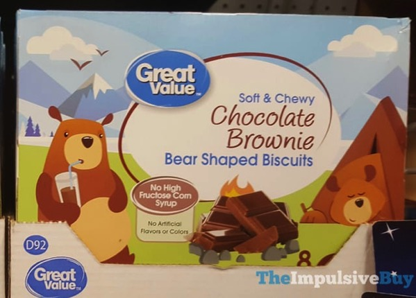 Great Value Soft  Chewy Chocolate Brownie Bear Shaped Biscuits