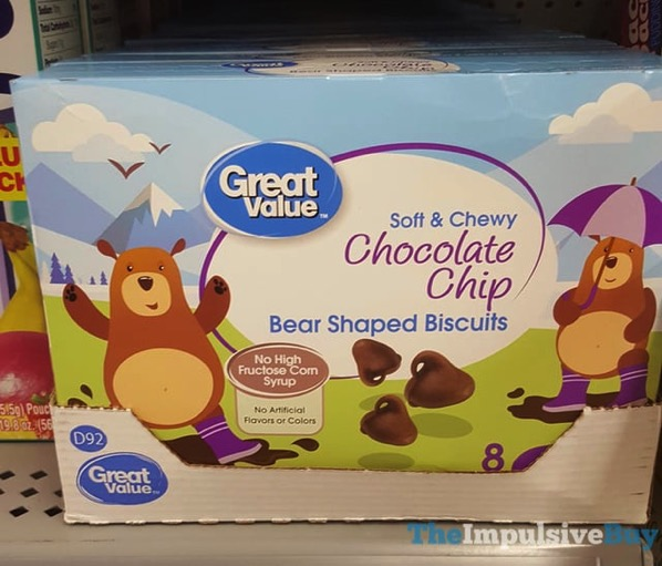 Great Value Soft  Chewy Chocolate Chip Bear Shaped Biscuits