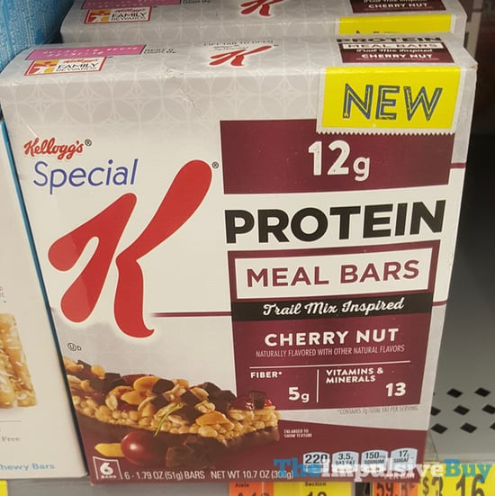Kellogg s Special K Cherry Nut Protein Meal Bars