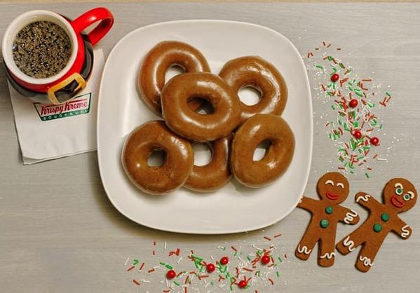 Krispy Kreme Gingerbread Glazed Doughnut
