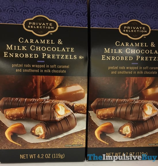Kroger Private Selection Caramel  Milk Chocolate Enrobed Pretzels