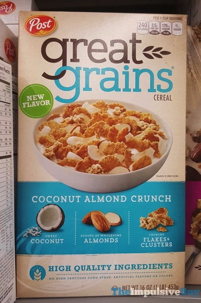 Post Coconut Almond Crunch Great Grains Cereal