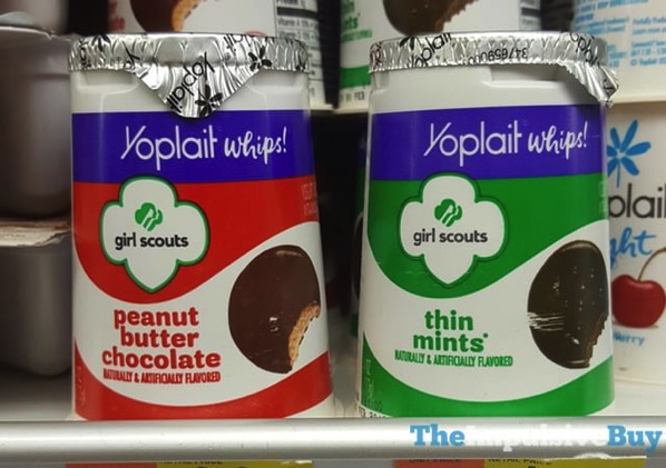 Yoplait Whips Girl Scouts Peanut Butter Chocolate and Thin Mints Yogurt