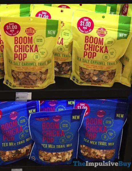 Angie s Boom Chicka Pop Trail Mixes  Sea Salt Caramel and Tex Mex