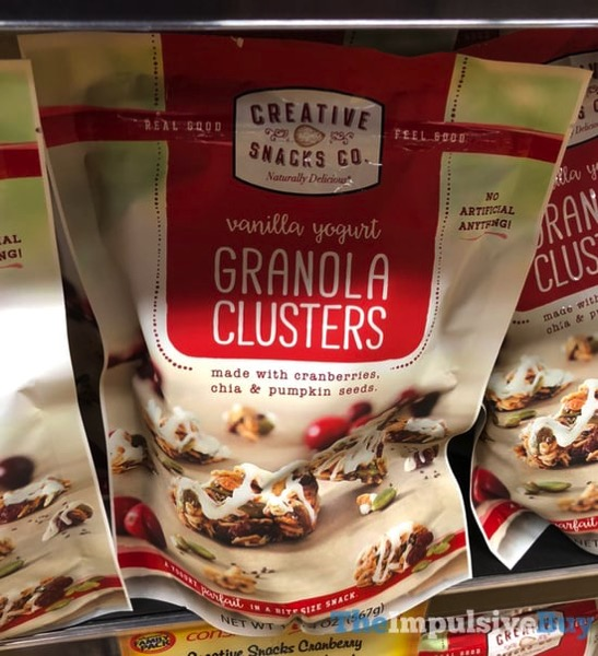 Creative Snacks Co Vanilla Yogurt Granola Clusters with Cranberries Chia  Pumpkin Seeds