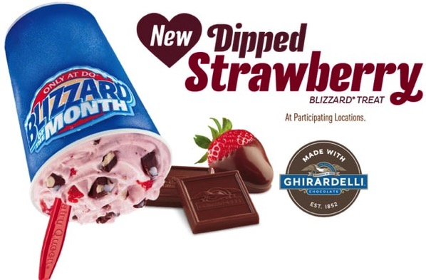 Dairy Queen Dipped Strawberry with Ghirardelli Blizzard