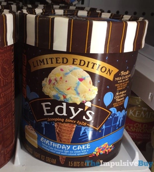 Back On Shelves Dreyers Edys Limited Edition Birthday Cake And S