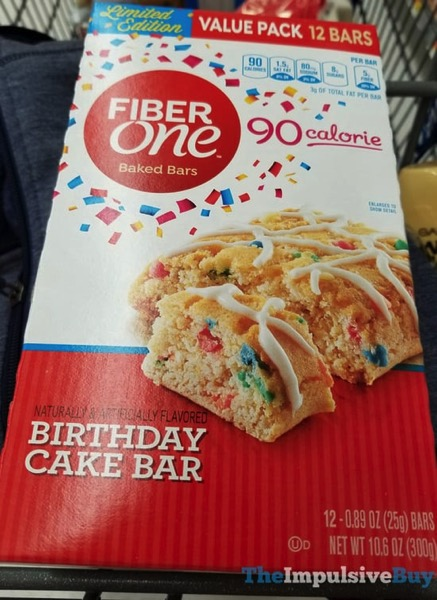Fiber One Limited Edition Birthday Cake Baked Bars