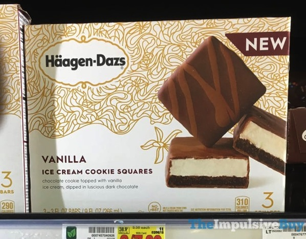 Haagen Dazs Vanilla Ice Cream Cookie Squares