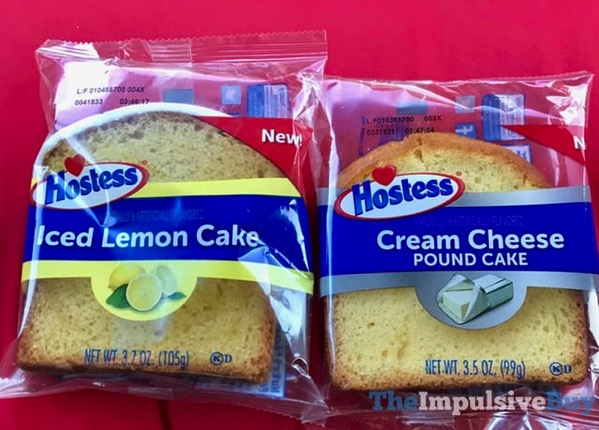 Hostess Cake Slices  Iced Lemon Cake and Cream Cheese Pound Cake jpg