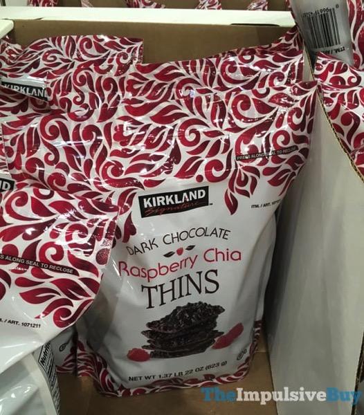 Kirkland Signature Dark Chocolate Raspberry Chia Thins