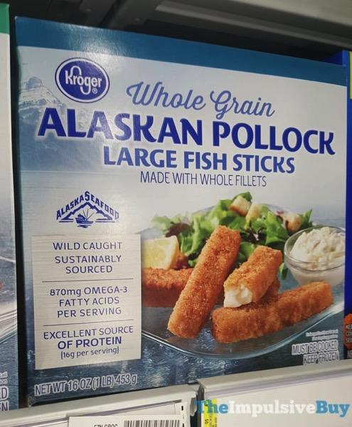 Kroger Whole Grain Alaskan Pollock Large Fish Sticks jpg