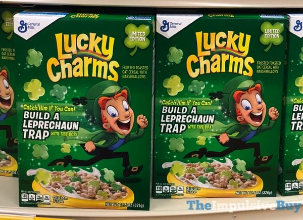 Limited Edition Leprechaun Trap Lucky Charms Cereal jpg