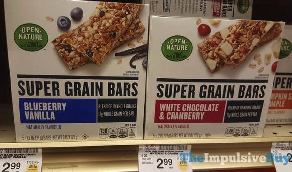 Open Nature Super Grain Bars  Blueberry Vanilla and White Chocolate  Cranberry