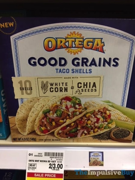 Ortega White Corn  Chia Seeds Good Grains Taco Shells jpg