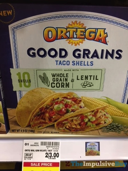 Ortega Whole Grain Corn  Lentil Good Grains Taco Shells