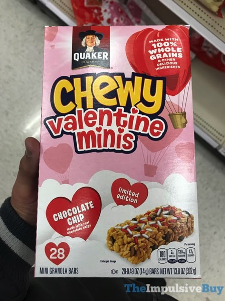 Quaker Limited Edition Chocolate Chip Chewy Valentine Minis