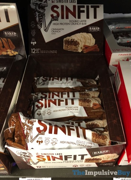 Sinister Labs Sinfit Cinnamon Crunch Double Layer High Protein Crunch Bar