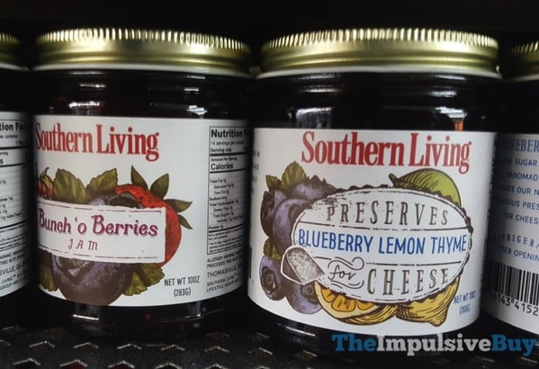 Southern Living Bunch  o Berries Jam and Blueberry Lemon Thyme Preserves for Cheese