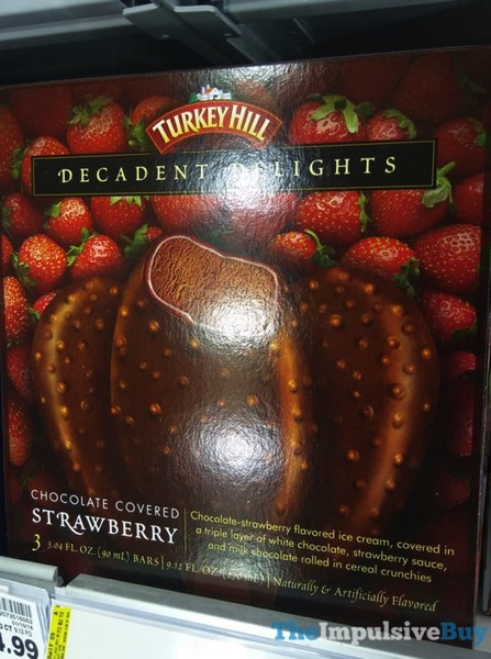 Turkey Hill Chocolate Covered Strawberry Decadent Delights Bars