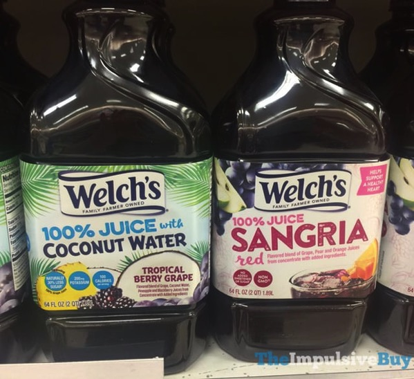 Welch s Tropical Berry Grape 100 Juice with Coconut Water and 100 Juice Red Sangria